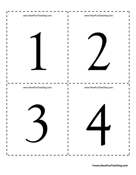 Numbers Flash Cards 0 To 100  Have Fun Teaching