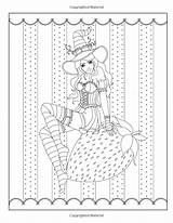 Coloring Pages Adult Witch Witches Halloween Spellbinding Fantasy Volume Burnette Books Fairy Grimm Tales Nikki Deviantart sketch template