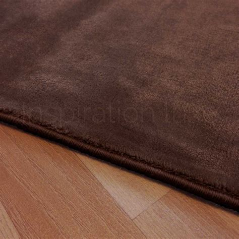 tapis sur mesure marron en viscose rectangulaire ou carr 233