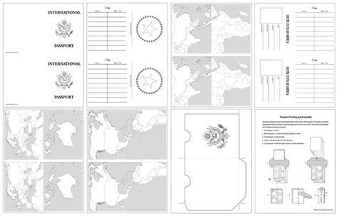 passport template  kids printable passport design