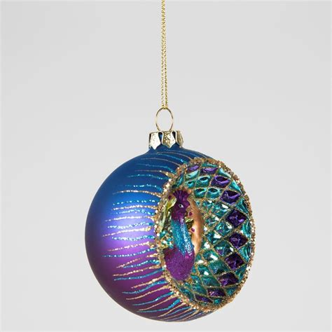 luxury glass birds christmas tree hanging decorations