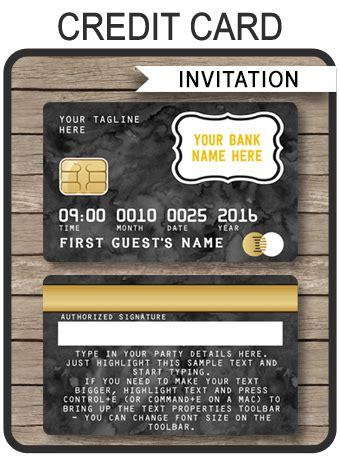 black credit card invitations mall scavenger hunt