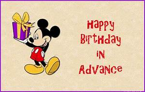 Advance Happy Birthday Pictures, Images, Graphics for ...