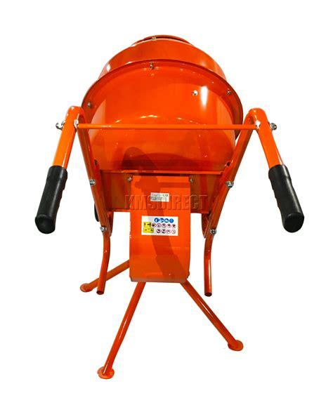 foxhunter 375w 140l drum portable electric concrete cement mixer mortar plaster ebay