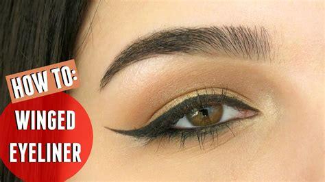 winged eyeliner  hooded eyes beginners youtube