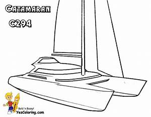 Superb Sailing Boat Coloring Pages
