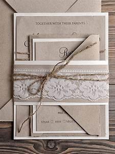 natural recycling paper wedding invitation country style With country looking wedding invitations