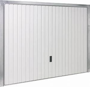 porte de garage basculante blanche h200xl240 bricoman With réparation porte de garage basculante