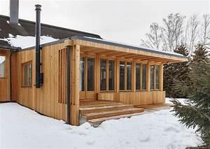 Cheminee Exterieur Bois : chemin e ext rieur extension bois house tarusa par ~ Premium-room.com Idées de Décoration
