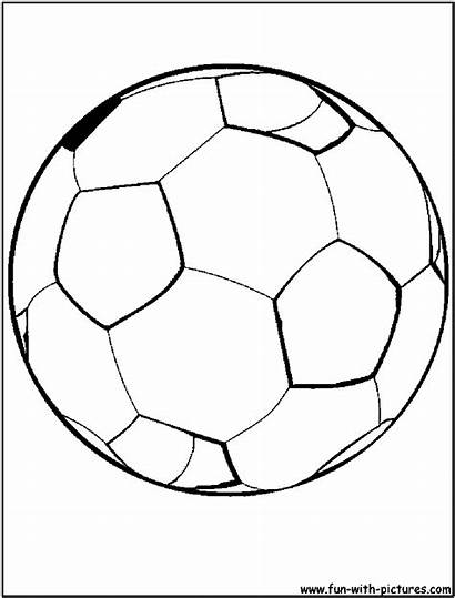Coloring Soccer Football Ball Pages Drawing Goal
