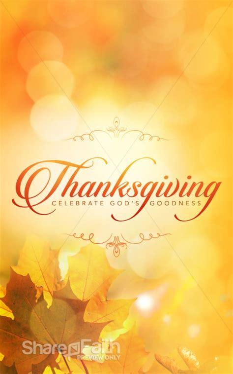 thanksgiving celebrate gods goodness christian bulletin