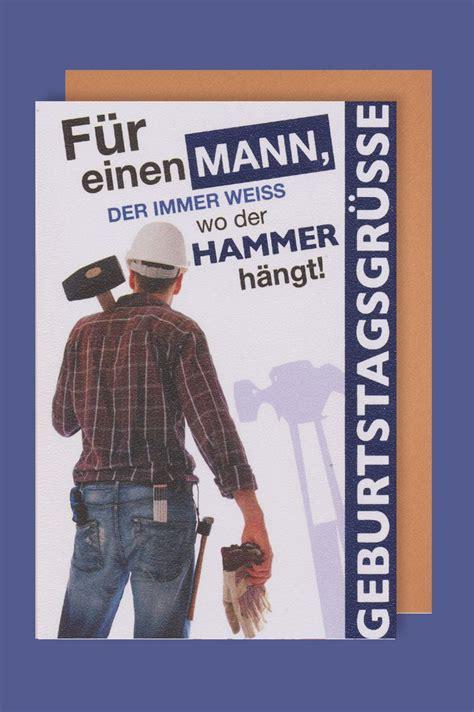 geburtstag männer bilder m 228 nner karte geburtstag heimwerker hammer 16x11cm avancarte