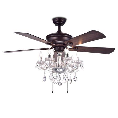 ceiling fan chandelier havorand 52 inch 5 blade ceiling fan chandelier