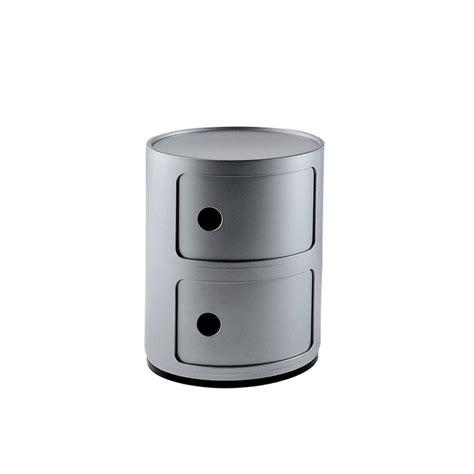 Achetez en ligne meubles de kartell. Meuble De Rangement Componibili 2 Tiroirs   Kartell - Silvera