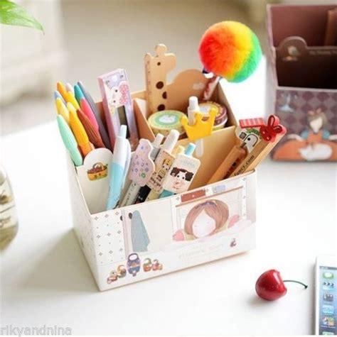cute pen holder for desk details about floating town pen box kawaii cartoon korean