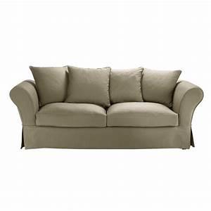 Sofa 4 Sitzer : sofa 3 4 sitzer aus baumwolle taupe maisons du monde ~ Eleganceandgraceweddings.com Haus und Dekorationen
