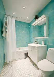 Green And White Tiles Bathroom