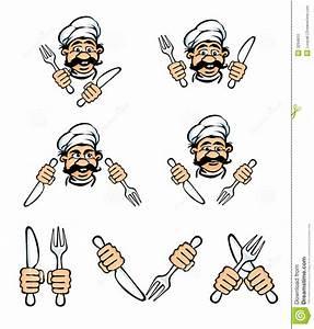 Messer Und Gabel : kochgesicht mit messer und gabel stock abbildung illustration von karikatur gastst tte 3294810 ~ Orissabook.com Haus und Dekorationen