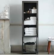 Tall Bathroom Storage Cabinets by Tall Industrial Metal Bath Cabinet Modern Bathroom Cabinets And Shelves
