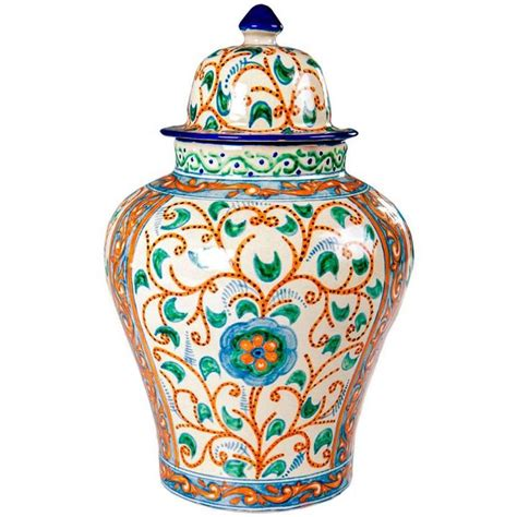 Colorful Decorative Vases by Colorful Mexican Ceramic Vase Talavera Tibor For Sale At