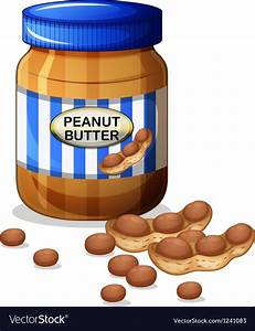 A jar of peanut butter Royalty Free Vector Image