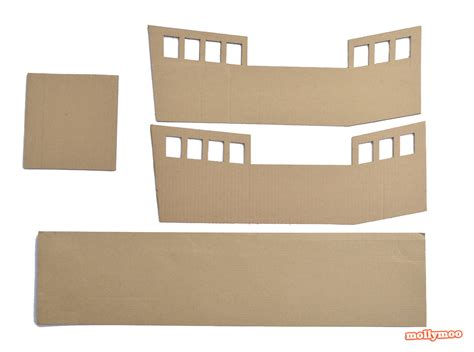 Cardboard Pirate Ship Template by Mollymoocrafts Diy Cardboard Pirate Ship Craft Tutorial