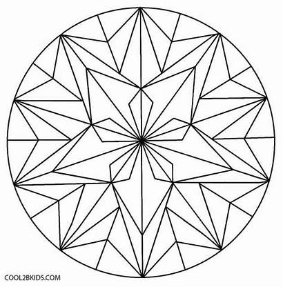Coloring Geometric Pages Flower Patterns Islamic Kaleidoscope