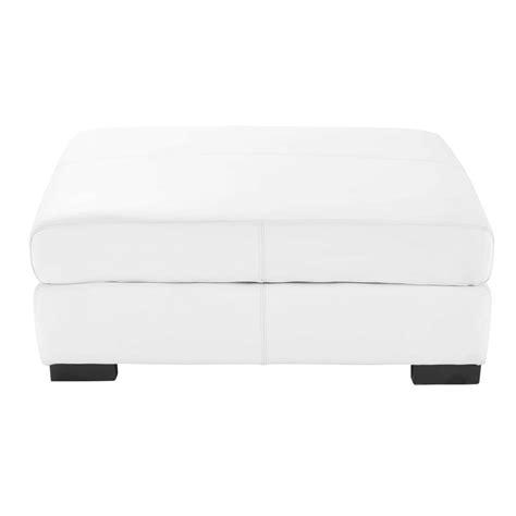 canapé pouf modulable pouf de canapé modulable en cuir blanc terence maisons