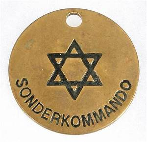 JEWISH SS SONDERKOMMANDO ID TAG. World War II German Jewish