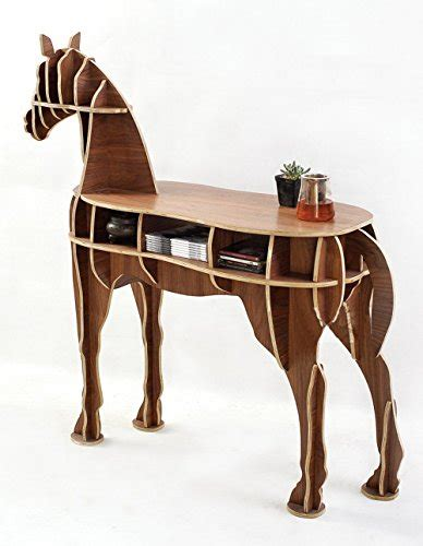 home office wooden horse style desk black walnut
