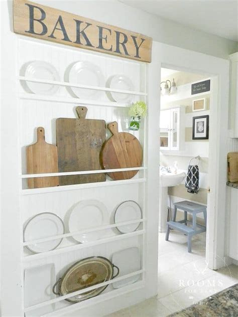emphasize small spaces  kitchen wall storage ideas