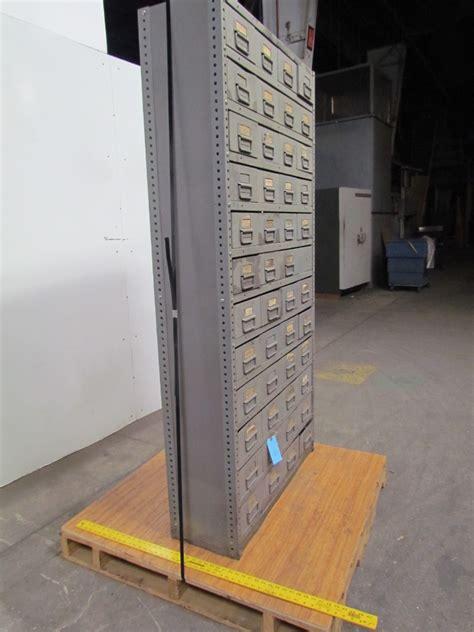 48 drawer industrial metal storage parts bin cabinet 75 quot hx36 quot wx12 quot d ebay