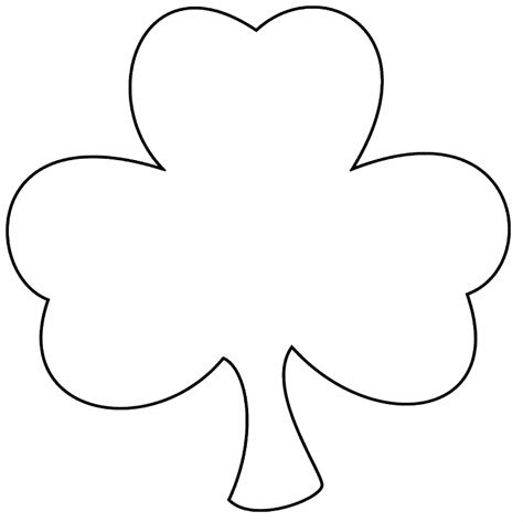shamrock outline    clipartmag