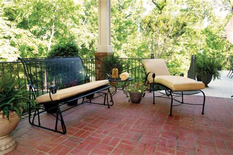meadowcraft patio furniture covers meadowcraft alexandria wrought iron loveseat glider