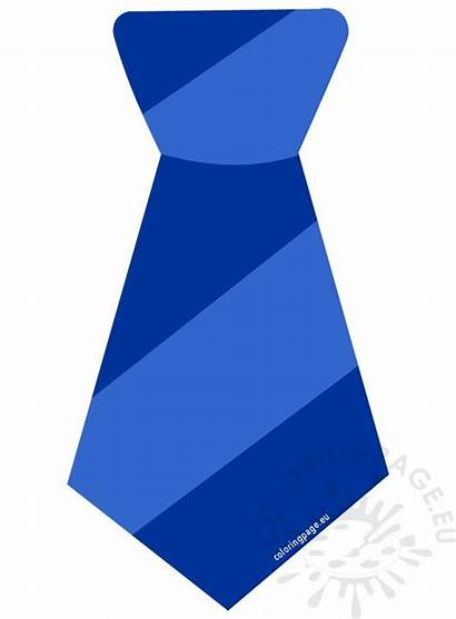 Tie Clipart Striped Father Necktie Template Coloring