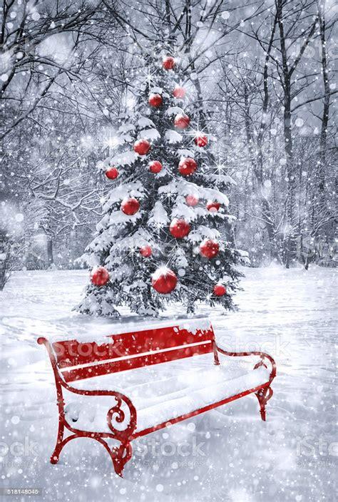 winter christmas background scene  red element stock