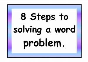 Steps For Solving Word Problems By Goofygoober