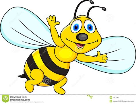 Funny Bee Cartoon. Image