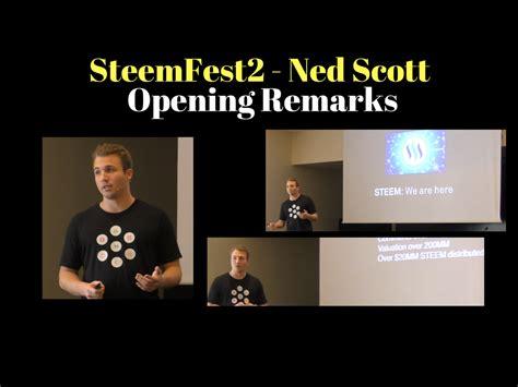Steemfest Opening Remarks By Ned Scott, Ceo, Steemit