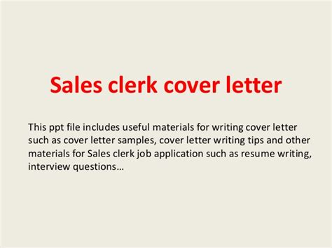file clerk cover letter sles sales clerk cover letter
