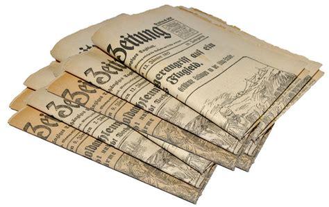 Alte Zeitungen Als Sammlerobjekte