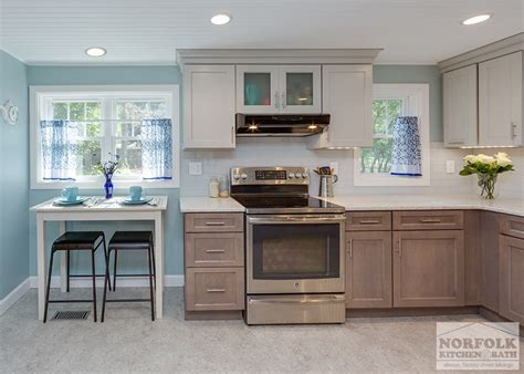 Two Tone Cottage Kitchen in Hampstead, NH   Norfolk