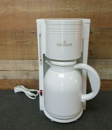 Now with over 30 different varieties of coffee in: GEVALIA 8 Cup Thermal Carafe Coffee Maker White | eBay