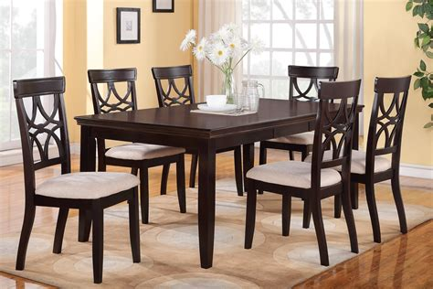 dining room table for 6 6 piece dining table set espresso finish huntington