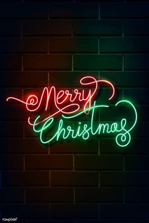 premium vector  merry christmas neon sign