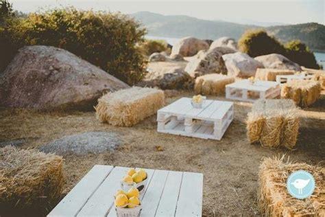 rustic outdoor wedding decorations  hay bales