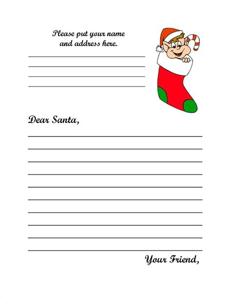 letter from santa template santa claus po box 1 santa claus in 47579 if you would 28669