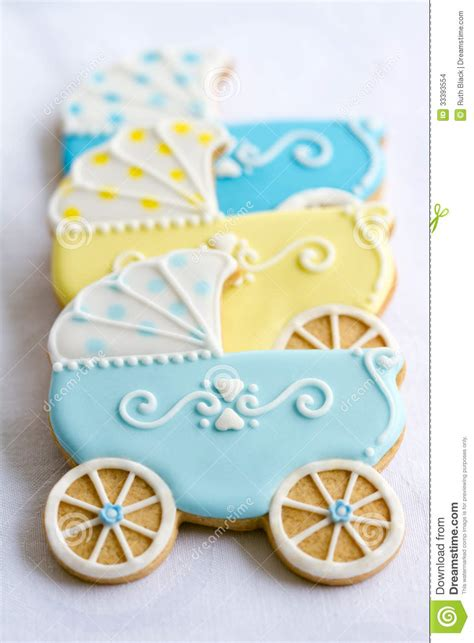 Cookies For Baby Boy Shower by Baby Shower Cookies Stock Images Image 33393554