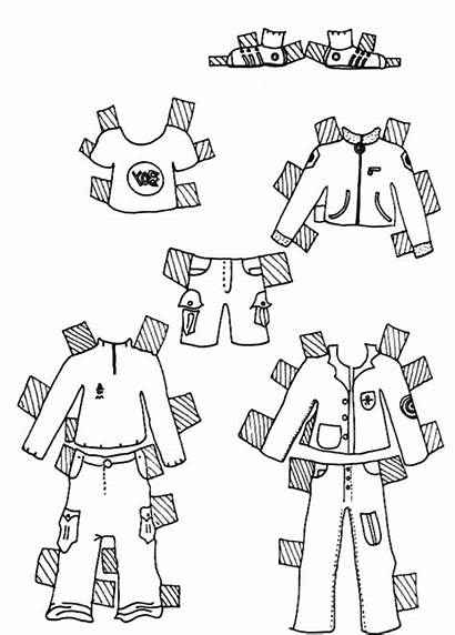 Coloring Pages Clothes Doll Boys Printable Coloringsky