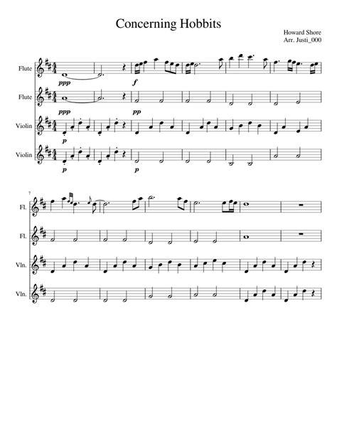 Concerning Hobbits Sheet Music For Flute Violin Download